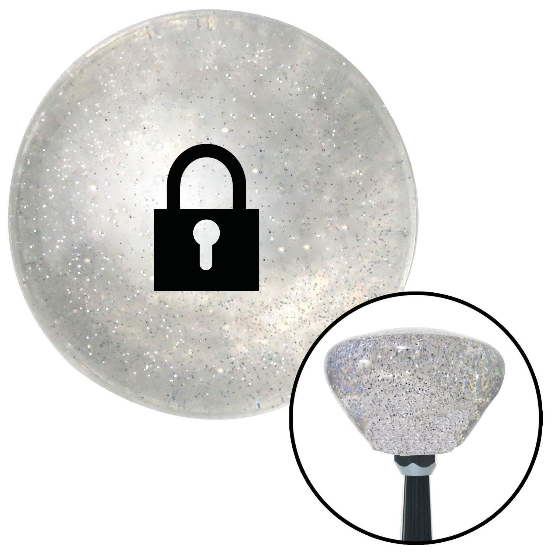 Black Locked Lock American Shifter 163658 Clear Retro Metal Flake Shift Knob with M16 x 1.5 Insert