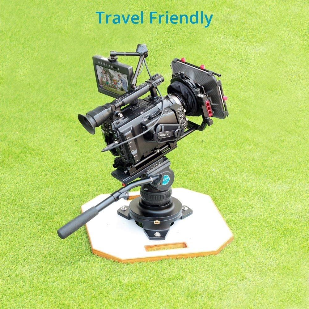 """PROAIM Mitchell Low Hi-Hat with Board for Film Cinema Video Production Payload up to 500kg//1100lb Octagon Wood Board 18x18/"""" Heavy-Duty Portable Aluminum Camera Mount Riser HT-MTCL-01"""