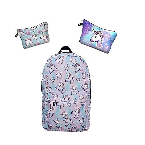 633a4f05e1 Leah's fashion , Zainetto per bambini multicolore blau unicorno