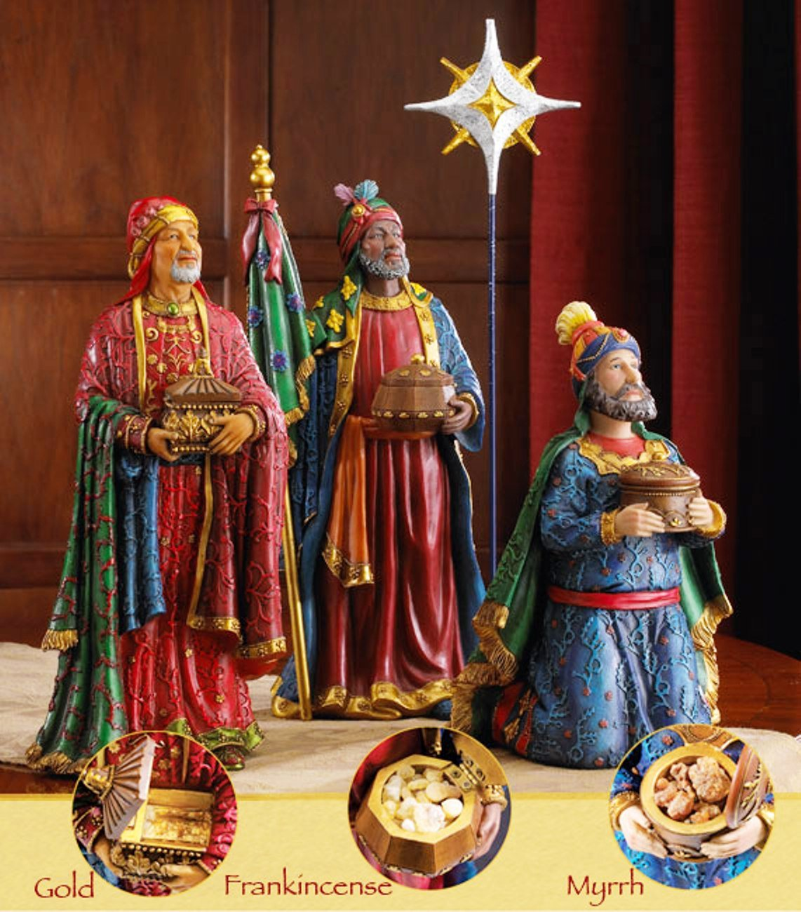 Three Kings Gifts Gold Frankincense And Myrrh