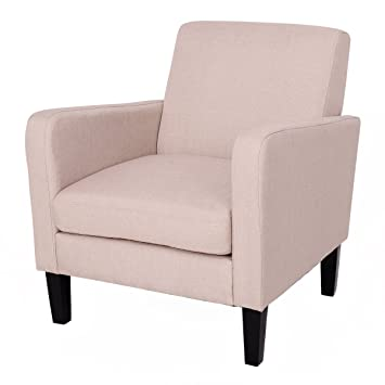 Amazon.com: Giantex Accent Leisure Upholstered Arm Chair Single ...