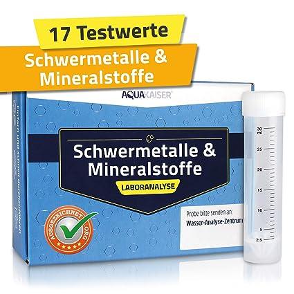 Wassertest Auf Schwermetalle Mineralstoffe Wasserhärte Und Andere Chemische Stoffe Inkl Test Set Und Laboranalyse
