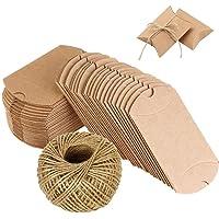 100pz. Cojín de Bomboniere Cajas de papel kraft