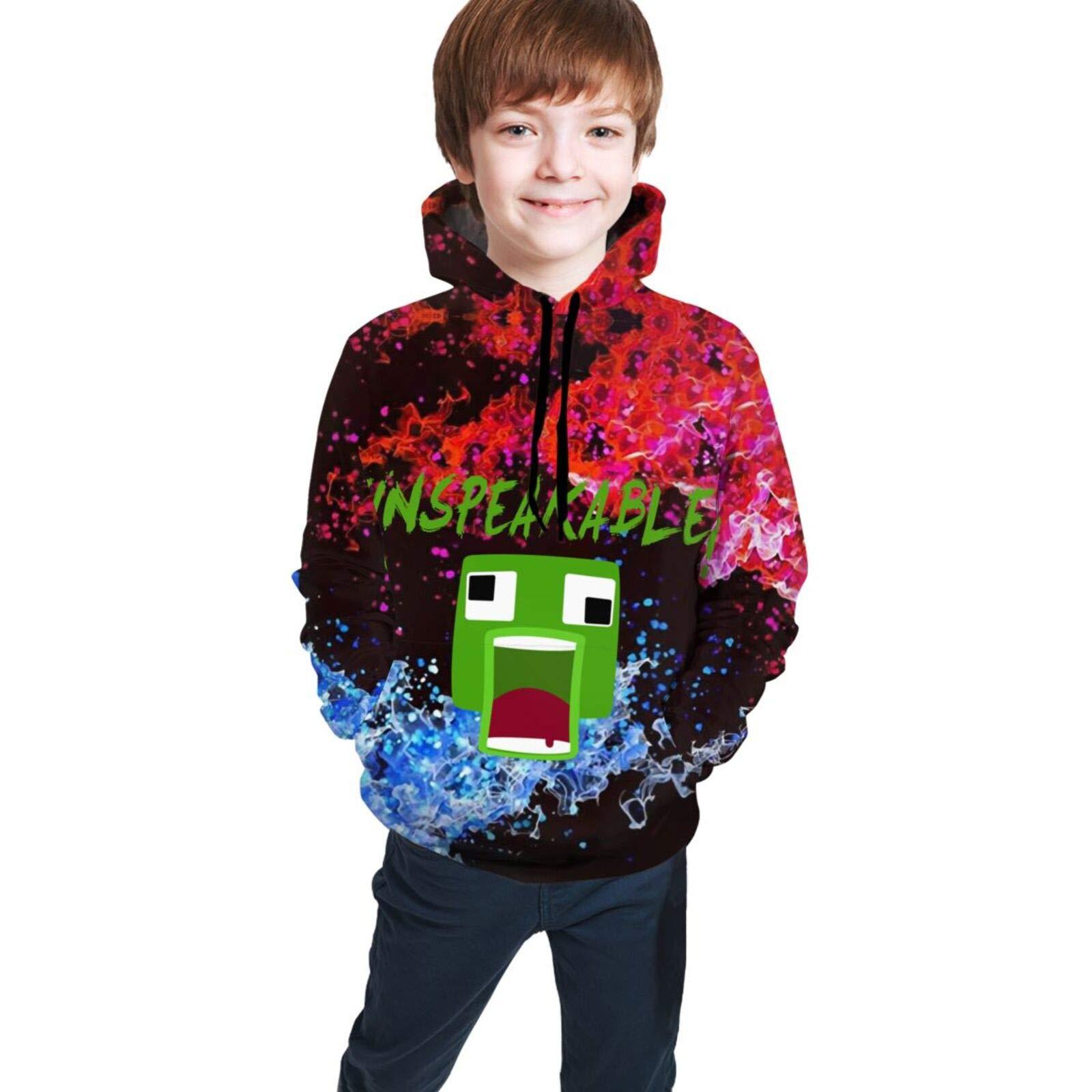 Unspe-Aka-Ble Teen Sweatshirt Shirt With Pocket Kids Hoodie Teen Shirt Unisex Kid Long Sleeve T-Shirt