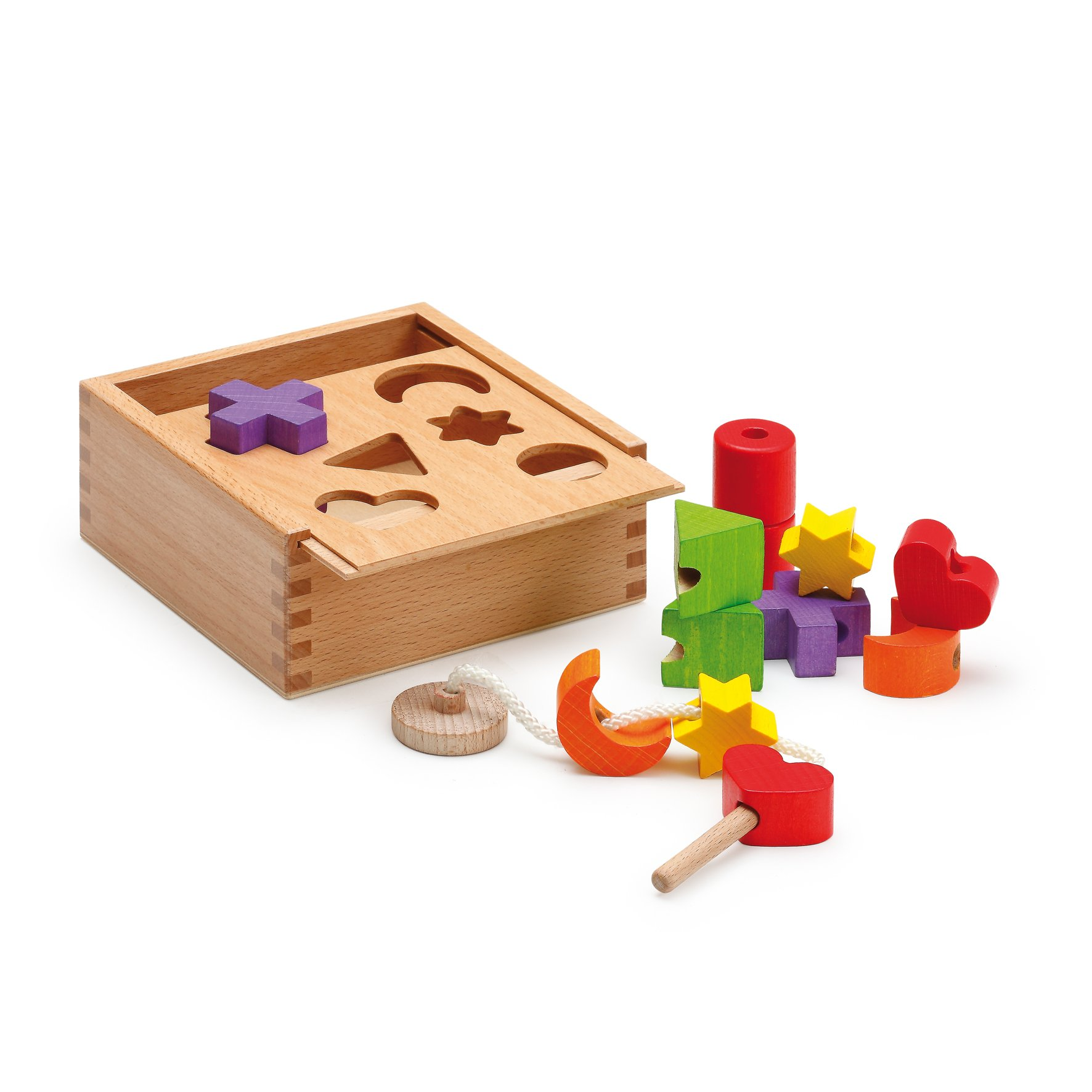Erzi 15 x 15 x 6 5 cm German Wooden Toy Activity Cube