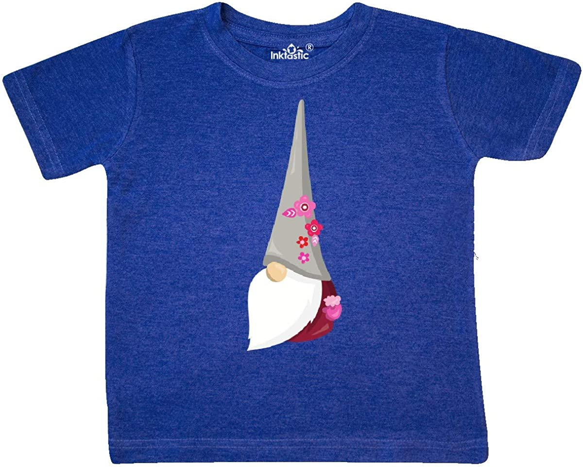 Gnome with Hat Toddler T-Shirt Gnome with Flowers inktastic Cute Gnome