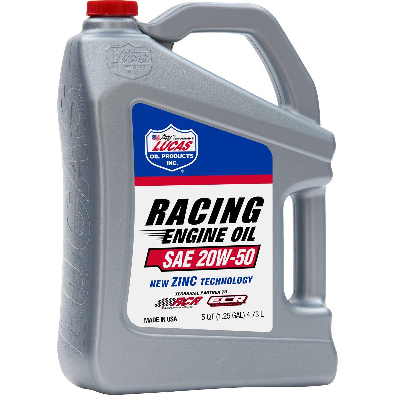 Lucas Oil 10621 SAE 20W-50 Racing Oil-4.73L