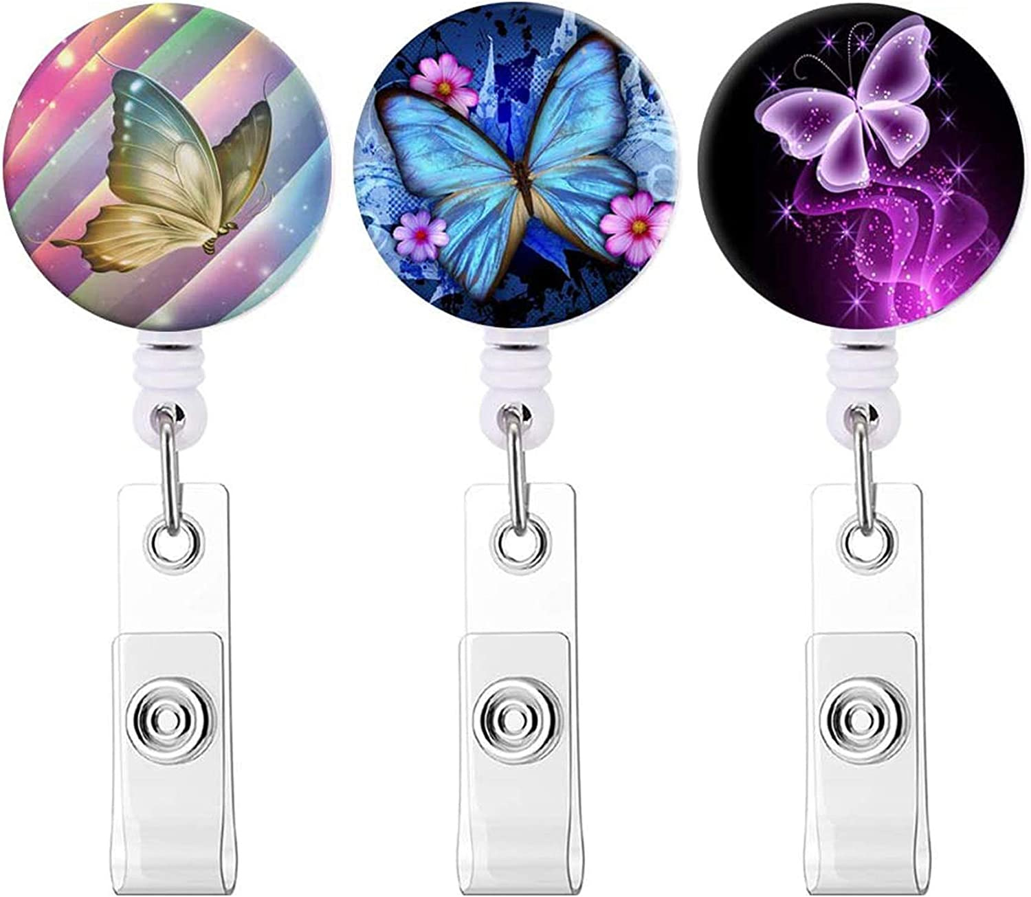 Resin butterfly lock and key badge real