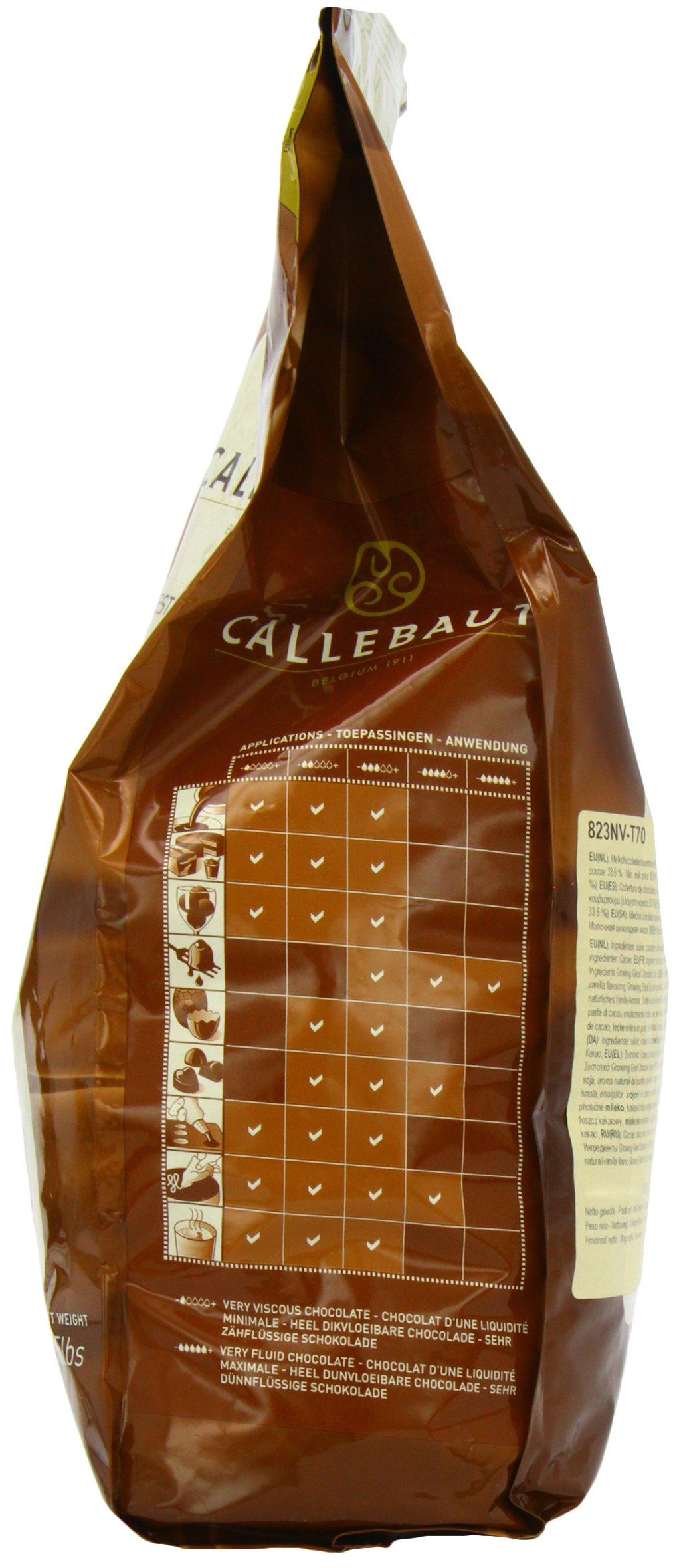 Belgian Milk Chocolate Baking Callets (Chips) - 33.6% - 1 bag, 5.5 lbs by Callebaut (Image #4)