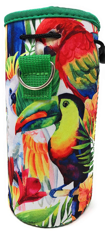 MEK Soporte de Neopreno Aislado para Botella de Agua para Made Easy Kit Jungle Parrot, 1 Paquete contenedores con Correa de Hombro Acolchada y Ajustable a Juego y Funda de cord/ón por MEK 1-1,5 L