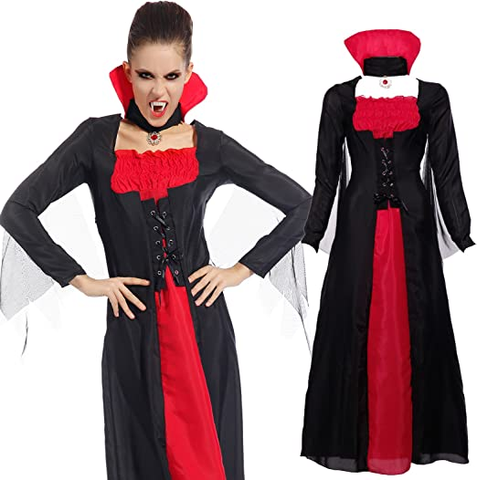 Maboobie - Disfraz de vampiresa Drácula para Mujer Talla Unica ...