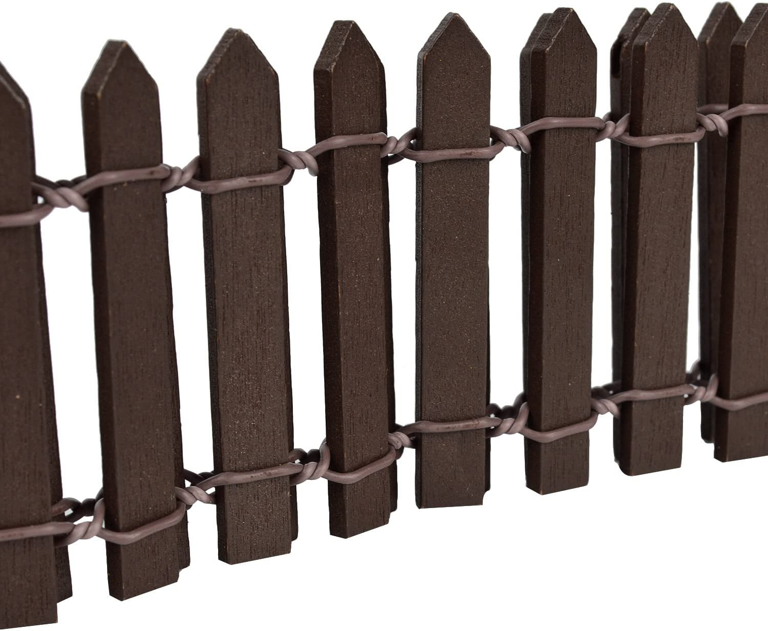 40 Wood Fence for Rose Garden Decoration Framing TaiTian Picket Fence,Garden Fence,Miniature Fairy Fencing