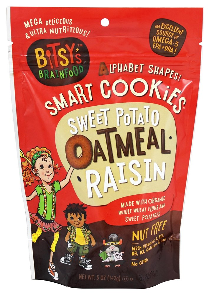Bitsy's Brainfood - Smart Cookies Sweet Potato Oatmeal Raisin - 5 oz (Pack of 2)