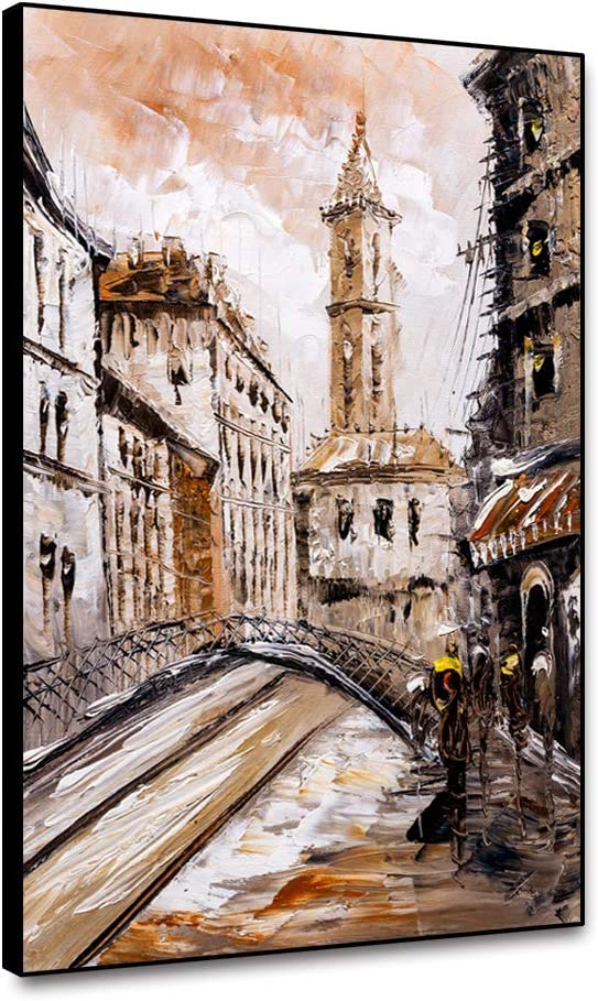 Beautiful Watercolor city art Canvas Print Home Decor Wall Art choose your size