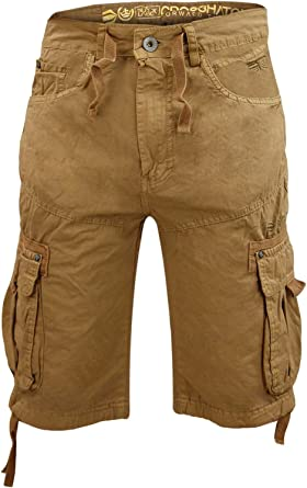 NEW MENS CROSSHATCH CASUAL CARGO COMBAT OPRAH TWILL SHORTS SUMMER HALF PANTS