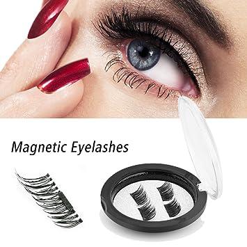 ca5d7c3fbe4 False Magnetic Eyelashes, 3D Reusable Fake Eyelashes for Nature Look, 0.2mm  Ultra Thin