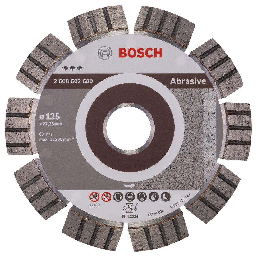 2608602680 BOSCH 125MM DIAMOND CUTTING DISC BEST FOR ABRASIVE