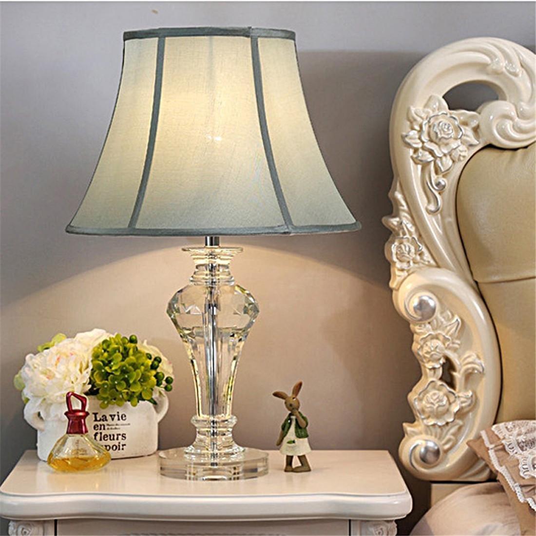 QIANGQI Continental Luxus Modernen Einfache LED LED LED Kristall K9 Wohnzimmer Modell Zimmer Schlafzimmer Nachttischlampe 35  55 B07H4LG9ZS | Förderung  22649c
