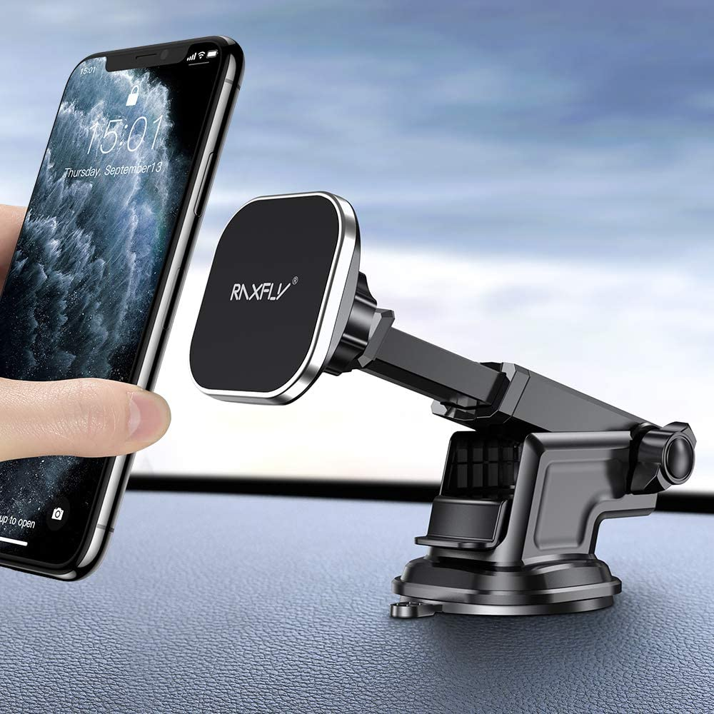 Strong Mangetic Car Phone Mount Newest 2020 Magnet Phone Holder with Charging Cable Holder Compatible with All Cell Phones and Mini Tablet