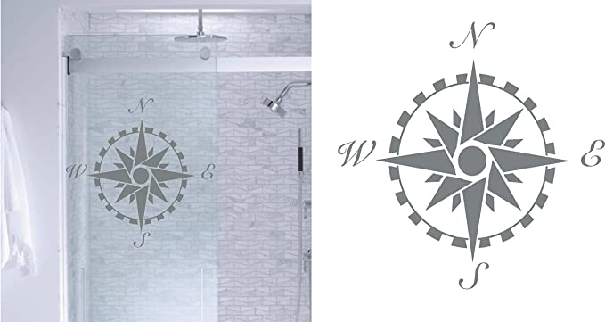 SHOWERS 276mm DECAL ROSE  DESIGN FOR PATIO DOOR WINDOWS ETCHED GLASS STICKER