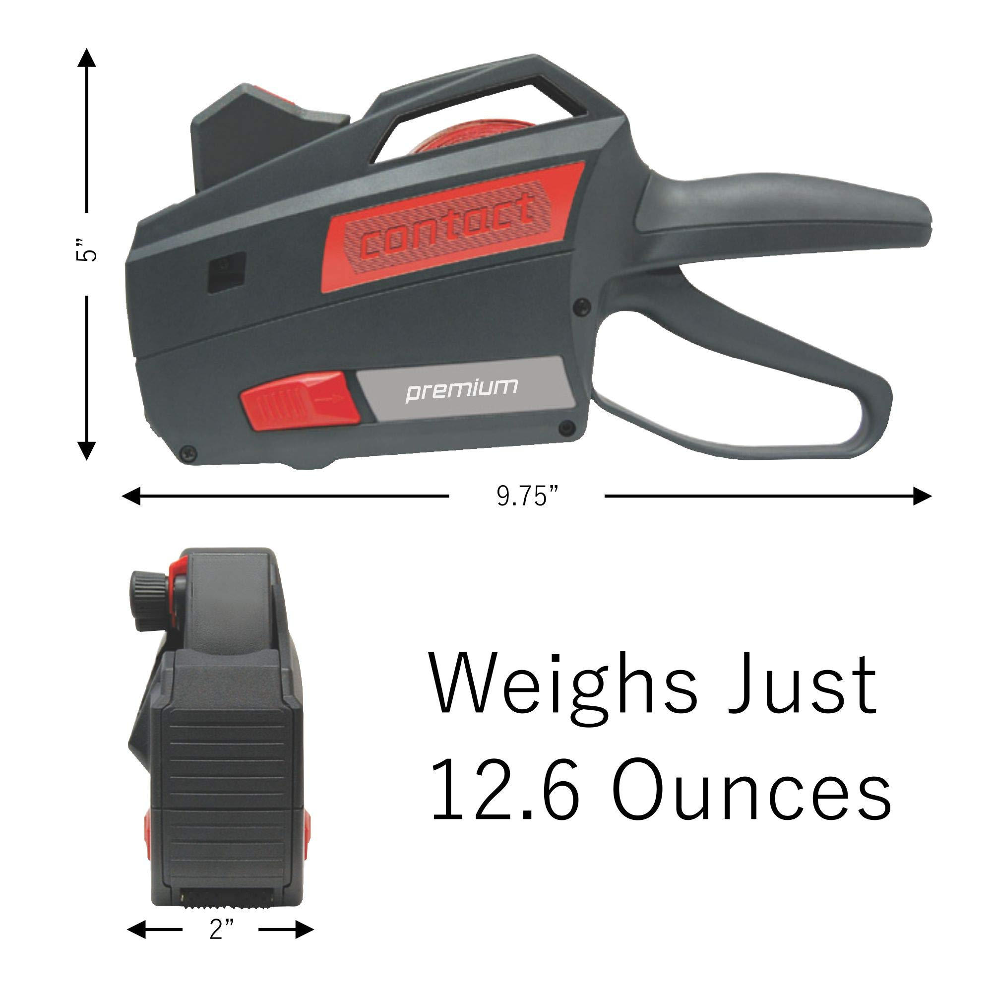 Contact Price Tagging Gun, Model 22.16, 2-Line, Word Band Price Tag Gun, Includes 1 Pricing Gun and pre-Loaded with Over 1,100 Standard (White) Price Stickers. Label Size: (HxW) 16mm x 22mm by Contact Label (Image #4)