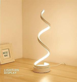 Modeen 40W Lámpara de Mesa LED Espiral lámpara de Escritorio ...