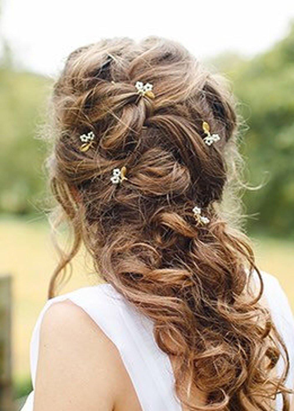 Handmadejewelrylady Bridal Vintage Hair Pins Wedding Party Crystal Rhinestone Hair Pins Hair Accessories Women Headpiece(pack of 5)