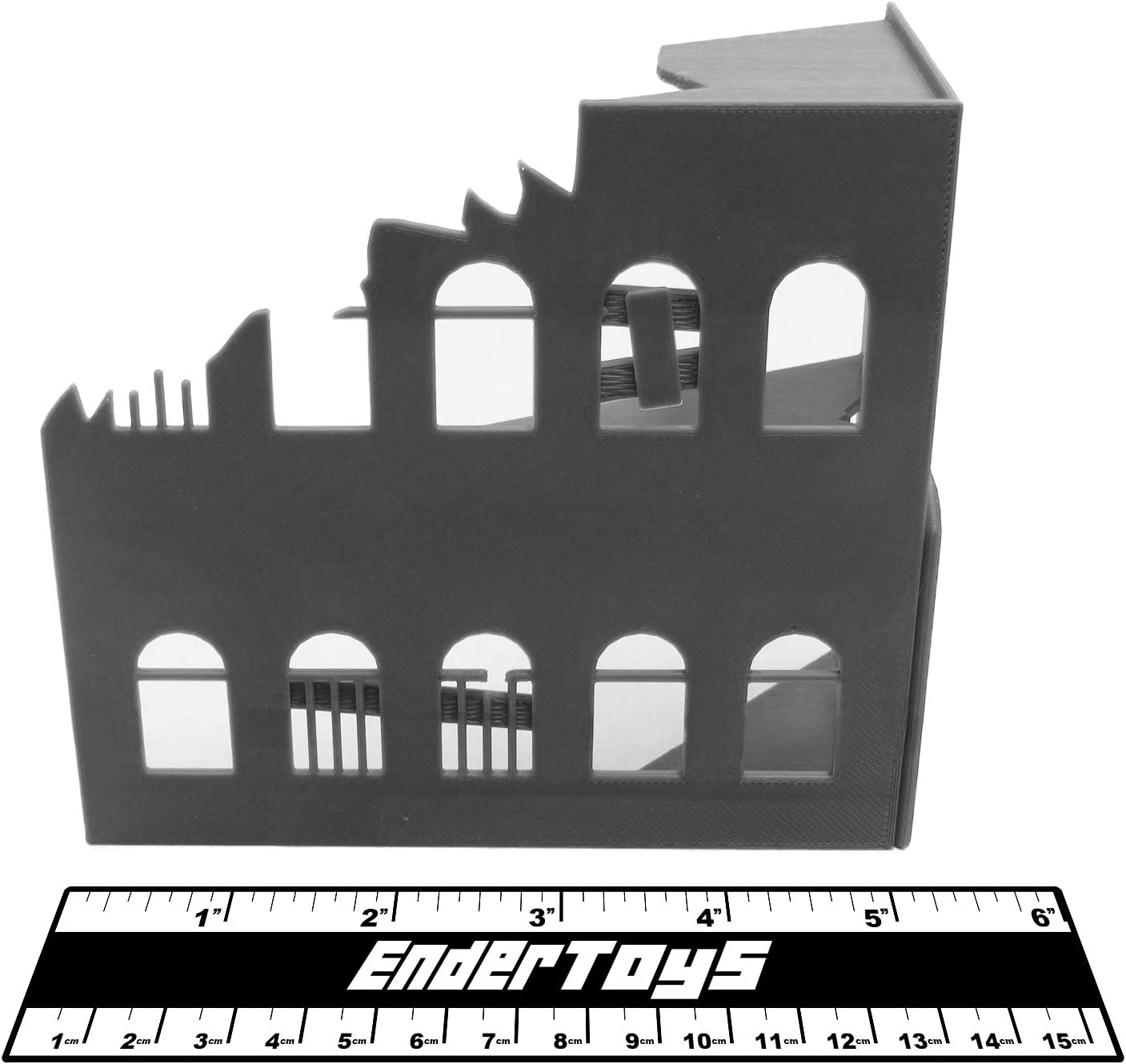 Ruined Building, Terrain Scenery for Tabletop 28mm Miniatures ...