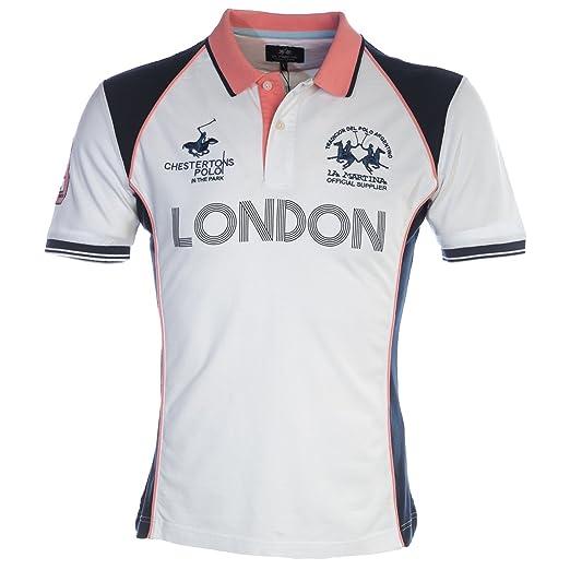 92ab51d61 La Martina London Polo Shirt in White at Amazon Men's Clothing store: