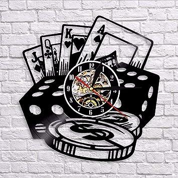Tarjeta Pared Asbjxny Con Relojes Disco De Pokerstars Vinilo 4jLAR35q