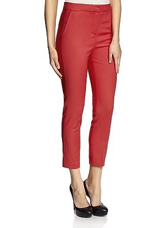 oodji Collection Femme Pantalon Moulant à Plis  Amazon.fr  Vêtements ... 30549c60d884