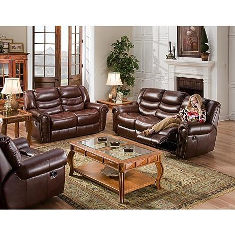 Cambridge Lancaster Two Piece Set: Sofa, Loveseat Living Room Furniture Sets Part 75