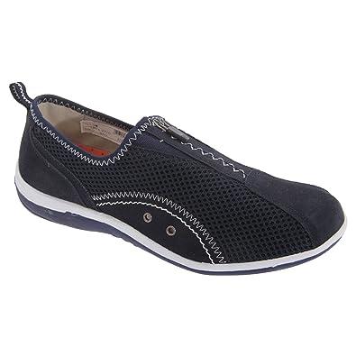 4ad026c9e84e Boulevard Womens Ladies Zip Elastic Gusset Leisure Shoes  Amazon.co ...