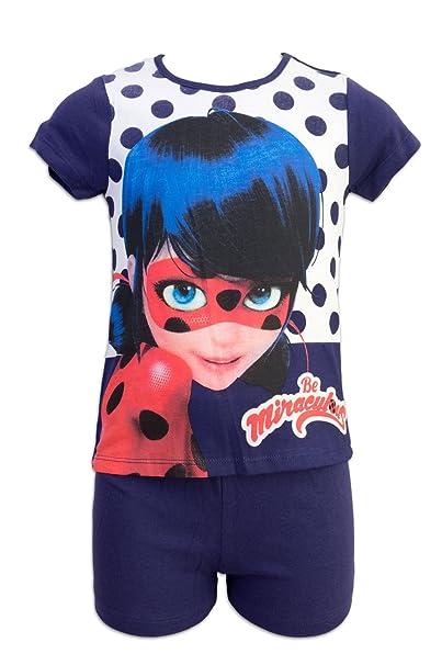 Miraculous - Conjunto Pijama - para niña - ER2138 [Azul - 4 años - 104