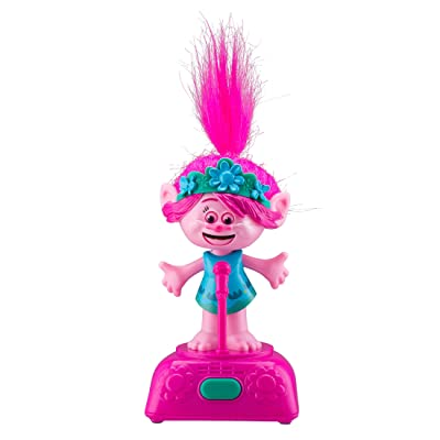 Trolls World Tour Poppy Singing and Dancing to Music and Sound Kids Toys Fun Built in Music from Movie, for Kids Desk Bedroom Home Musical Figure Poppy: Toys & Games