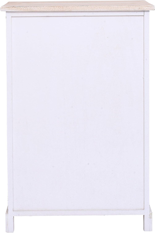 Legno Paulownia Mobile Multiuso 8 cassetti Camera Rebecca Mobili Cassettiera per Ingresso Misure: 70 x 48 x 29 cm HxLxP Stile Vintage Industrial - Art RE4484