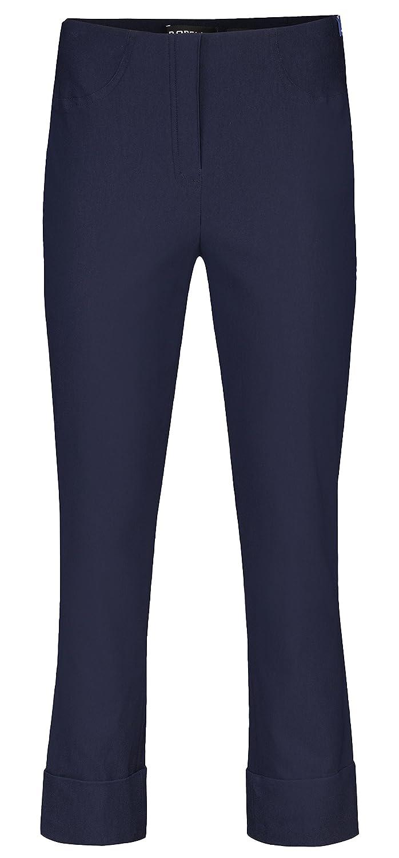 0824df80bd36 Robell Bella Slim Fit 7 8 Stretchhose Bengaline Schlupfhose (34, Navy)   Amazon.de  Bekleidung