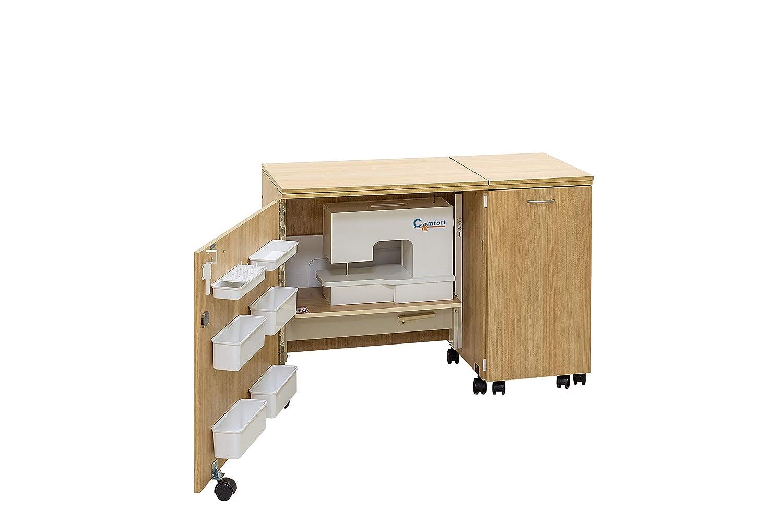 Comfort 1 mobiletto per macchina da cucire oak kendal cognac