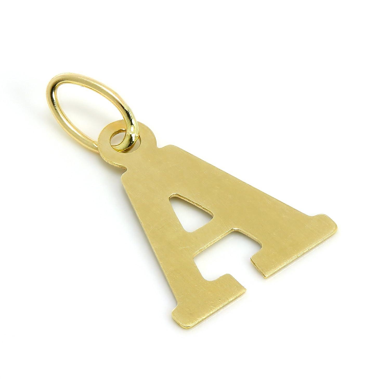 Charm Lettre de l'Alphabet en Or Jaune 9 Carats jewellerybox AMJ-193-A