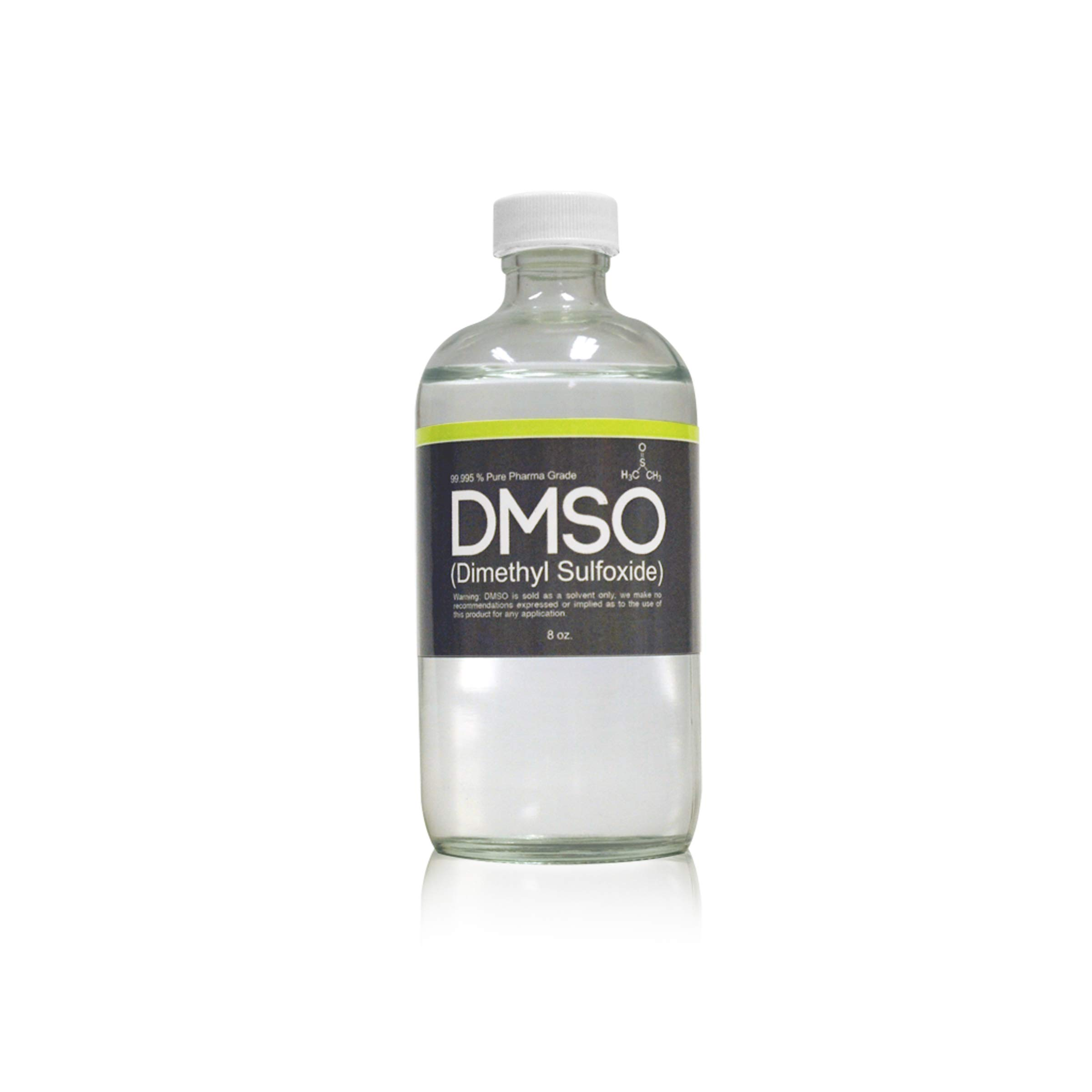 DMSO Dimethyl Sulfoxide Low Odor in Glass 8 oz Bottle 99 995