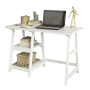 home office table desk. sobuy fwt16w white home office table desk workstation computer with 2 o