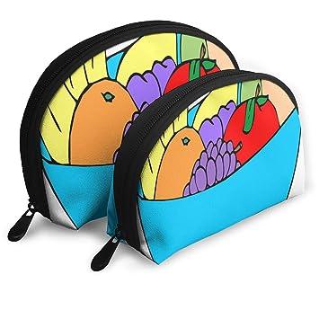 Amazon.com : Makeup Bag Cartoon Fruit Bowl Portable Shell ...