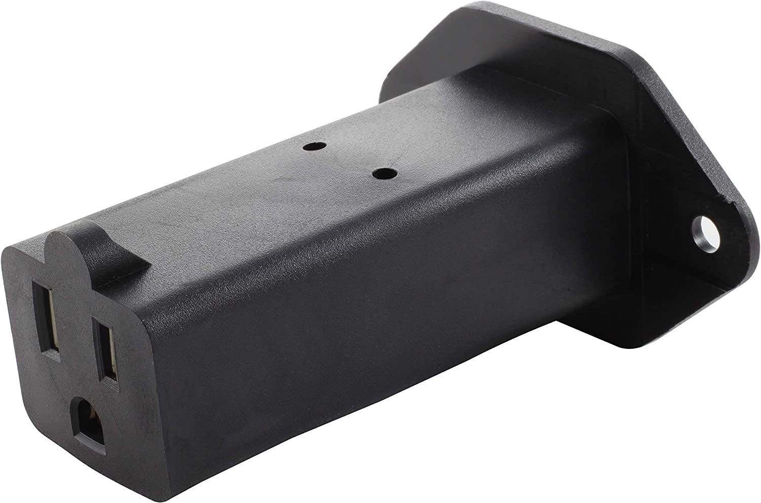 AC WORKS [AD1308-FG] IEC C14/ SHEET E with Mounting Holes to U.S. Household NEMA 5-15R Connector