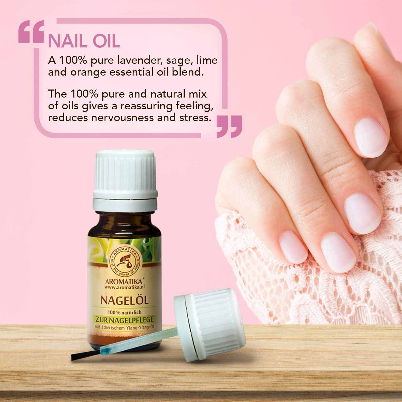 Aceite para Uñas 10ml - Aceites Puro 100% Naturales de Limón - Jojoba y Semilla de Uva - Aceite para Uñas Secas y Quebradizas - Crecimiento y Fortalecimiento de las Uñas -