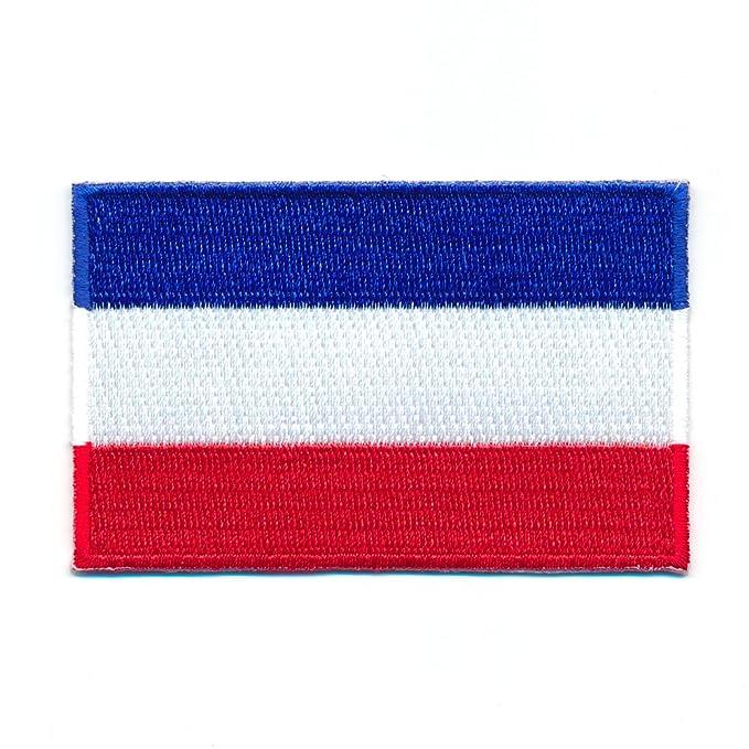 40 x 25 mm Polen Warschau Flagge Polska Poland Flag Aufn/äher Aufb/ügler 1099 A