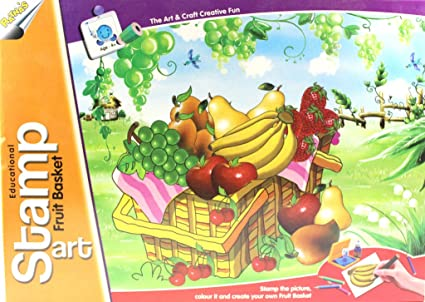 buy educational stamp art fruit basket online at low prices in india
