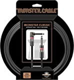 "Monster Classic Instrument Cable (21 feet/6.4 Meters) with Angled to Straight 1/4"" Plugs"