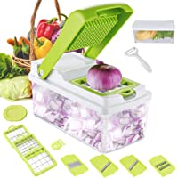 Godmorn Multi-function Food Slicer, Mandolin Vegetable Slicer, Fruit and Cheese Cutter, Chopper, Grater