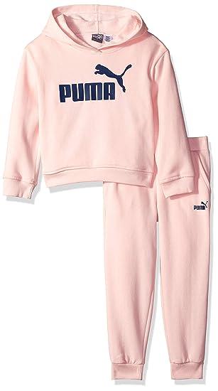 a3ca9abc564c4 Amazon.com: PUMA Girls' Fleece Hoodie Set: Clothing