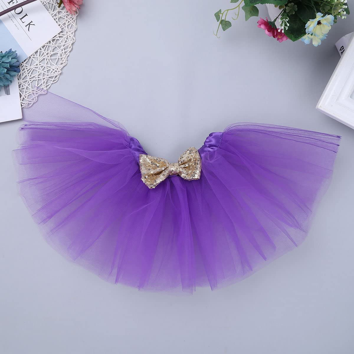 ACSUSS Baby Girls Its My First Birthday Party Outfits Shiny Romper with Tutu Skirt Sequins Headband
